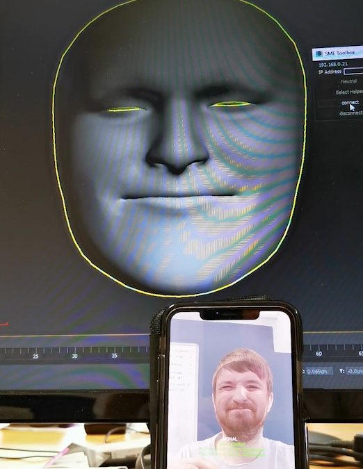 Realtime face-tracking animation link